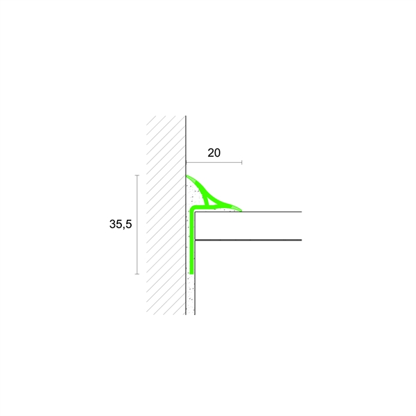 Sezione Vasca Da Bagno.Profilpas Profili Per Muri E Sgusce Kit Sguscia Bp 25 In Pvc Per