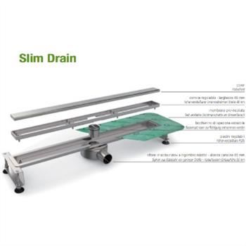 Profilpas pilette e sifoni slim drain base 80 cm for Piletta doccia filo pavimento
