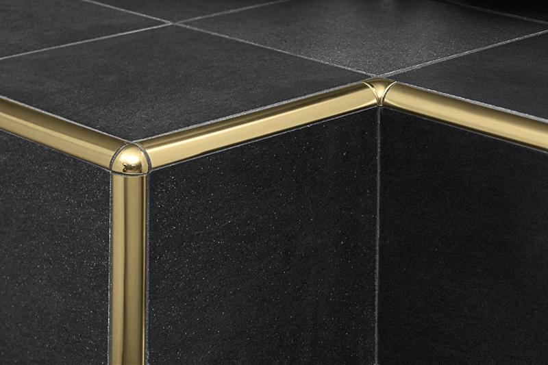 Profilpas profili per ceramiche ta 10 alluminio oro acquista online su pavipro - Paraspigoli per piastrelle bagno ...