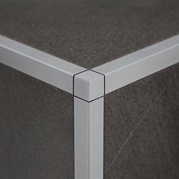 Profilpas profili per ceramiche zqan 80 ei raccordo in alluminio argento acquista online su - Profili acciaio per piastrelle prezzi ...