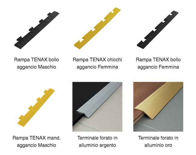 Rampe Tenax nera o gialla alta visibilità
